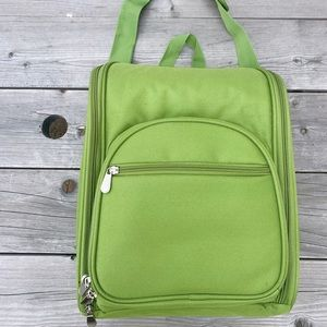 NWT Crate&Barrel Lime Green Wine Backpack/Carrier